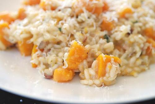 riso zucca pancetta e pecorino