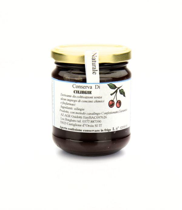 conserva di ciliegie naturale