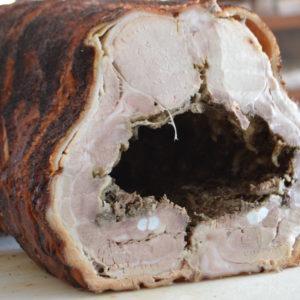 porchetta cotta a legna
