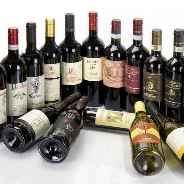 bottiglie di vino in vendita